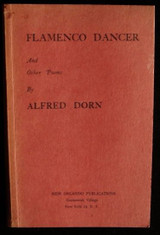 FLAMENCO DANCER Poetry by Alfred Dorn Signed Inscribed Poetry Pillin