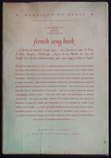 FRENCH SONG-BOOK, by Katherine Anne Porter - 1933 [Signed Ltd Ed]
