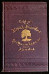 Geschichte des Plattdutschen Volksfest-Vereen von New York 1908 German directory
