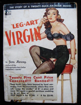 LEG-ART VIRGIN, by Gene Harvery 1950 Fiction Erotica Scarce Illustrated Vintage