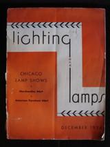 LIGHTING & LAMPS, Chicago Lamp Shows Magazine - Dec 1936