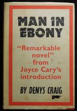MAN IN EBONY Denys Craig 1950 Signed Black African Americana French Africa