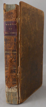 MEMOIR OF MRS. ANN H. JUDSON - 1829 [2nd Edition] Leatherbound w/ Map
