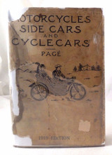 MOTORCYCLES, SIDECARS AND CYCLECARS, Victor W. Page - 1919 scarce DJ REPAIR