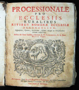 PROCESSIONALE PRO ECCLESIIS - 1714