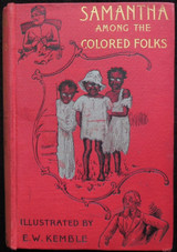 SAMANTHA AMONG THE COLORED FOLKS, by Marietta Holley - 1894 Satire Humor