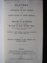 Slavery and the Internal Slave Trade in the United States of North America 1969