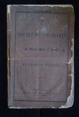 THE CRICKET ON THE HEARTH, by Charles Dickens - 1846 [1st US Ed?]