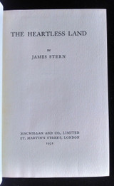 THE HEARTLESS LAND 1932 James Stern 1st Edition Short Story Fiction Very Scarce