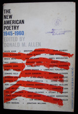 The New American Poetry 1945-1960, by Donald M. Allen 1960 First Edition Poetry