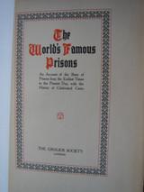 ENGLISH PRISONS [Vol 3], by Major Arthur Griffiths - c.1910 [Ltd Ed - Grolier]