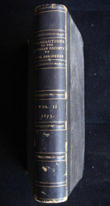 TRANSACTIONS OF THE AMERICAN SOCIETY OF ENGINEERS VOLUME TWO, 1874 Construction