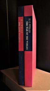 WAR OF THE WORLDS & TIME MACHINE by HG Wells, Joe Mugnaini SIGNED 1964 2 vol NF
