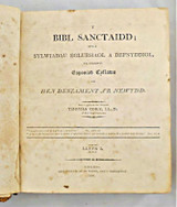 Y BIBL SANCTAIDD, Vol.1 - Welsh Bible & commentary, tr by Thomas Coke - 1806 [Welsh]