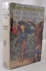 NANCY DREW: MESSAGE IN THE HOLLOW OAK, Carolyn Keene - 1935 [1st Ed/Pt]