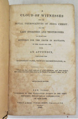 A CLOUD OF WITNESSES, edited by David Scott - 1840