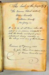 LIPPINCOTT'S PRONOUNCING GAZETTEER - 1856 [Historic Inscription]