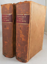 TREATISE OF THE PLEAS OF THE CROWN, by William Hawkins - 1787 [2 Vols]