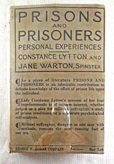 PRISONS AND PRISONERS, by Constance Lytton; Jane Warton - 1914