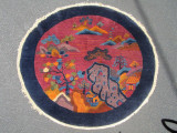 ANTIQUE CHINESE RUG -  [4' Round/Oval]
