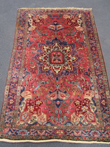 ANTIQUE SAROUK FEHREHAN PERSIAN CARPET - Tribal Multicolor [7' x 4.5']
