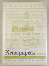 DIRECTORY OF NJ NEWSPAPERS (1765-1970) - 1977 [1st Ed]