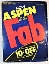 ASPEN MAGAZINE, The Pop Art issue / FAB, by Andy Warhol - Dec 1966, Vol 1 #3 [Box Only]