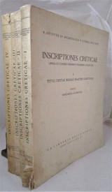INSCRIPTIONES CRETICAE, by Margarita Guarducci - 1935 Reference Greek Epigraphy