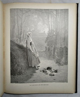 FABLES OF LA FONTAINE, illustr by Gustave Dore - c.1870 [Pictorial Cloth]
