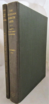 THE ATHENIAN TRIBUTE LISTS, by Benjamin Dean Meritt - 1939 [2 Vols]