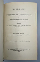 HANDBOOK OF PRACTICAL COOKERY, by Pierre Blot - 1868