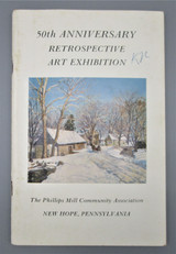 50TH RETROSPECTIVE ART EXHIBITION, by Phillips Mill Community Assn - 1979