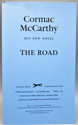 THE ROAD, by Cormac McCarthy - 2006 [Uncorrected Proof]