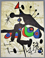 MIRO: SOBRE PAPEL, by Matisse Gallery - 1972 [Original Litho]