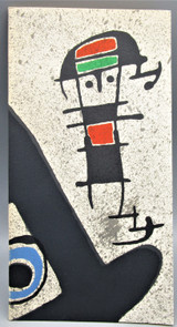 LE LEZARD AUX PLUMES D'OR, by Joan Miro -1971 [Lithograph Cover]