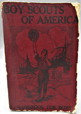 BOY SCOUTS OF AMERICA: THE OFFICIAL HANDBOOK FOR BOYS  - 1913 4th Edition