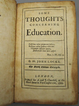 SOME THOUGHTS CONCERNING EDUCATION, by John Locke - 1709