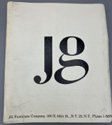 JG FURNITURE COMPANY SALES CATALOG - 1963