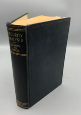 SECURITY ANALYSIS, by Benjamin Graham & David L. Dodd - 1934