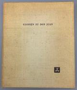 GLOSSEN ZU DON JUAN, by Max Frisch & Walter Jonas - 1959 [SIGNED]