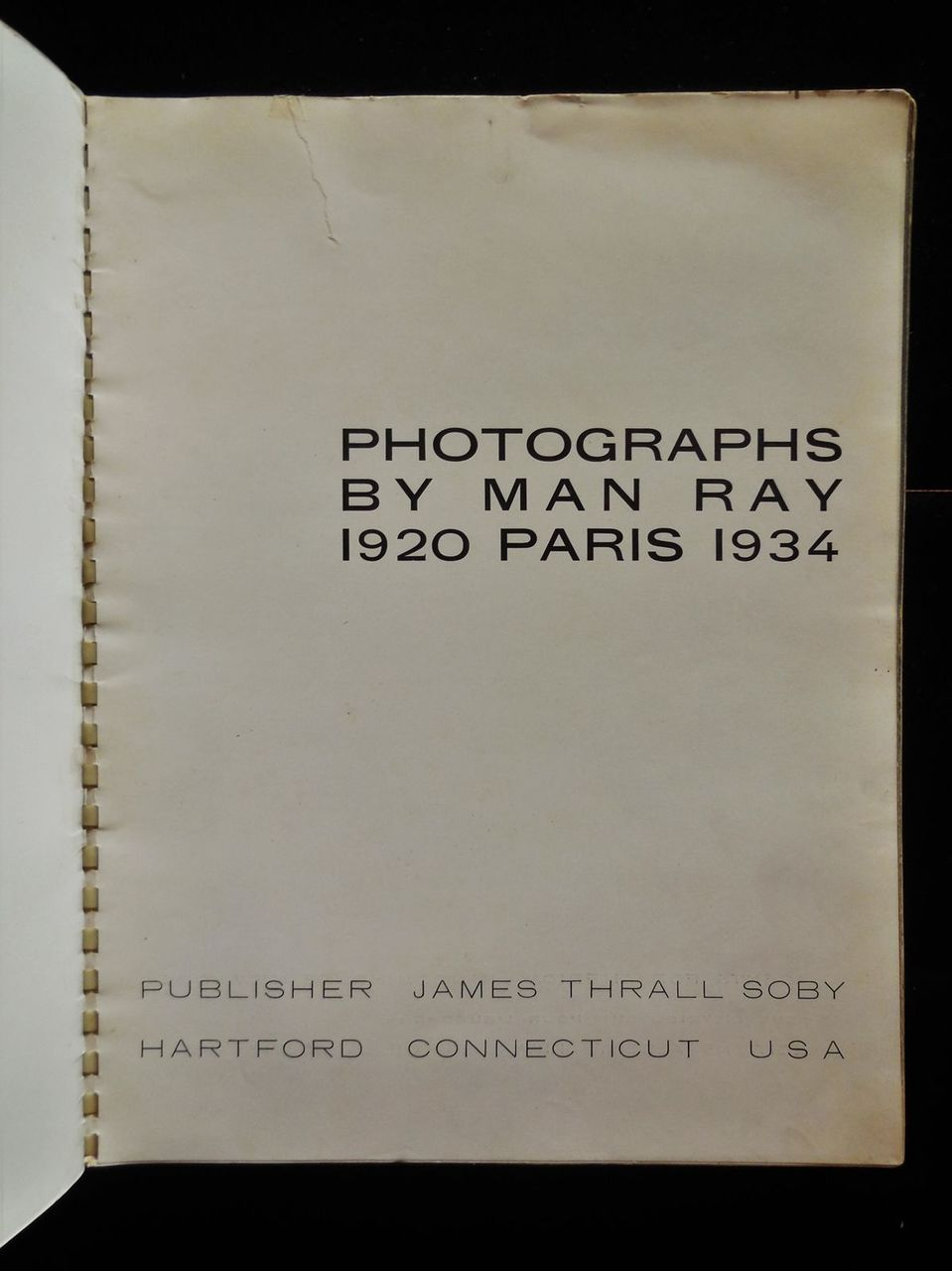 MAN RAY, his first photography book - 1934 [1st Ed]