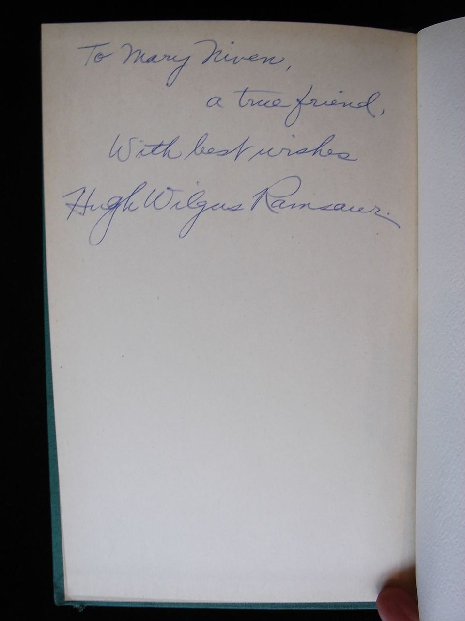ALTARS TO THE MOON, by Hugh Wilgus Ramsaur - 1946 [SIGNED]