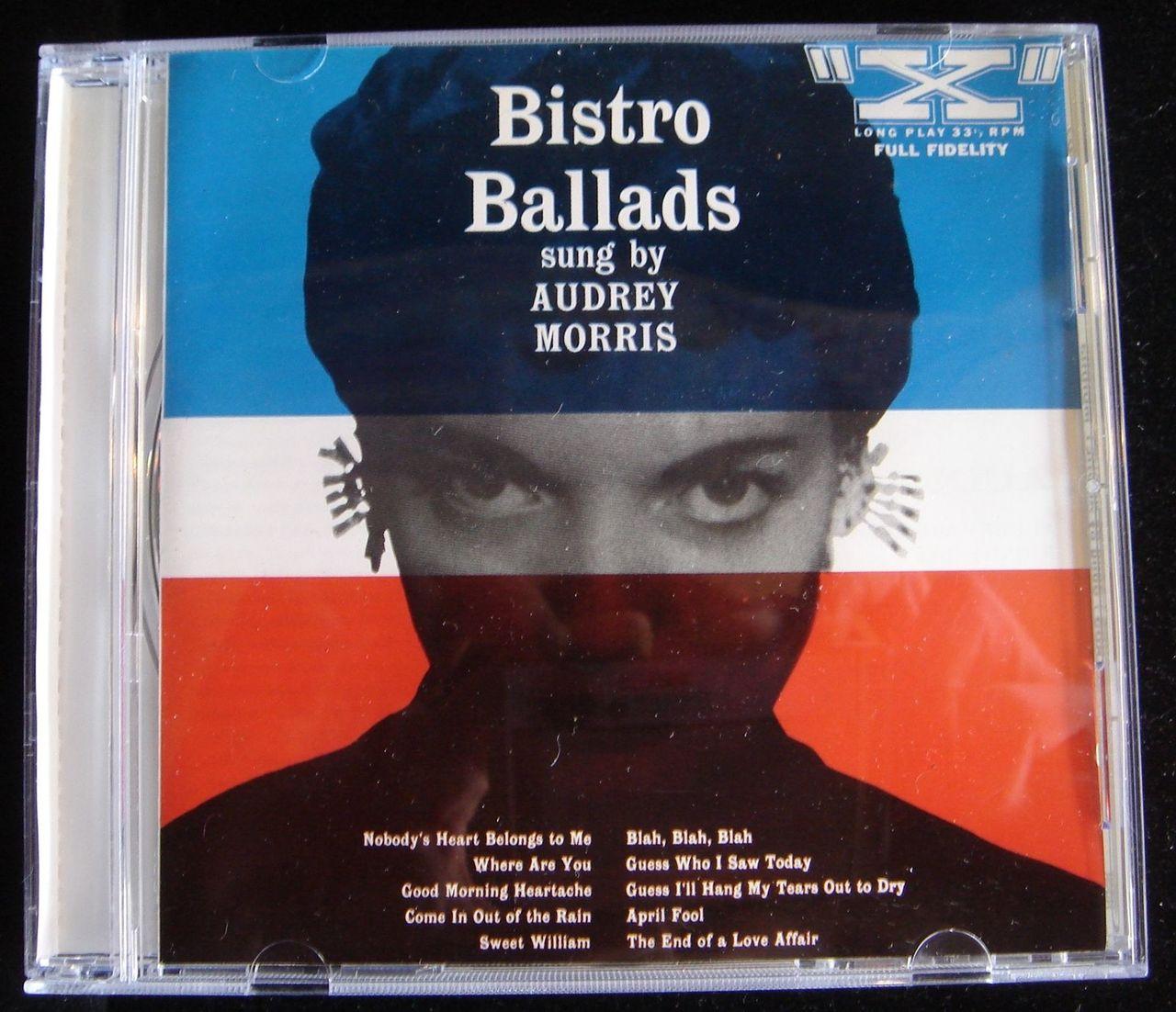 CD: BISTRO BALLADS by Audrey Morris - 1954