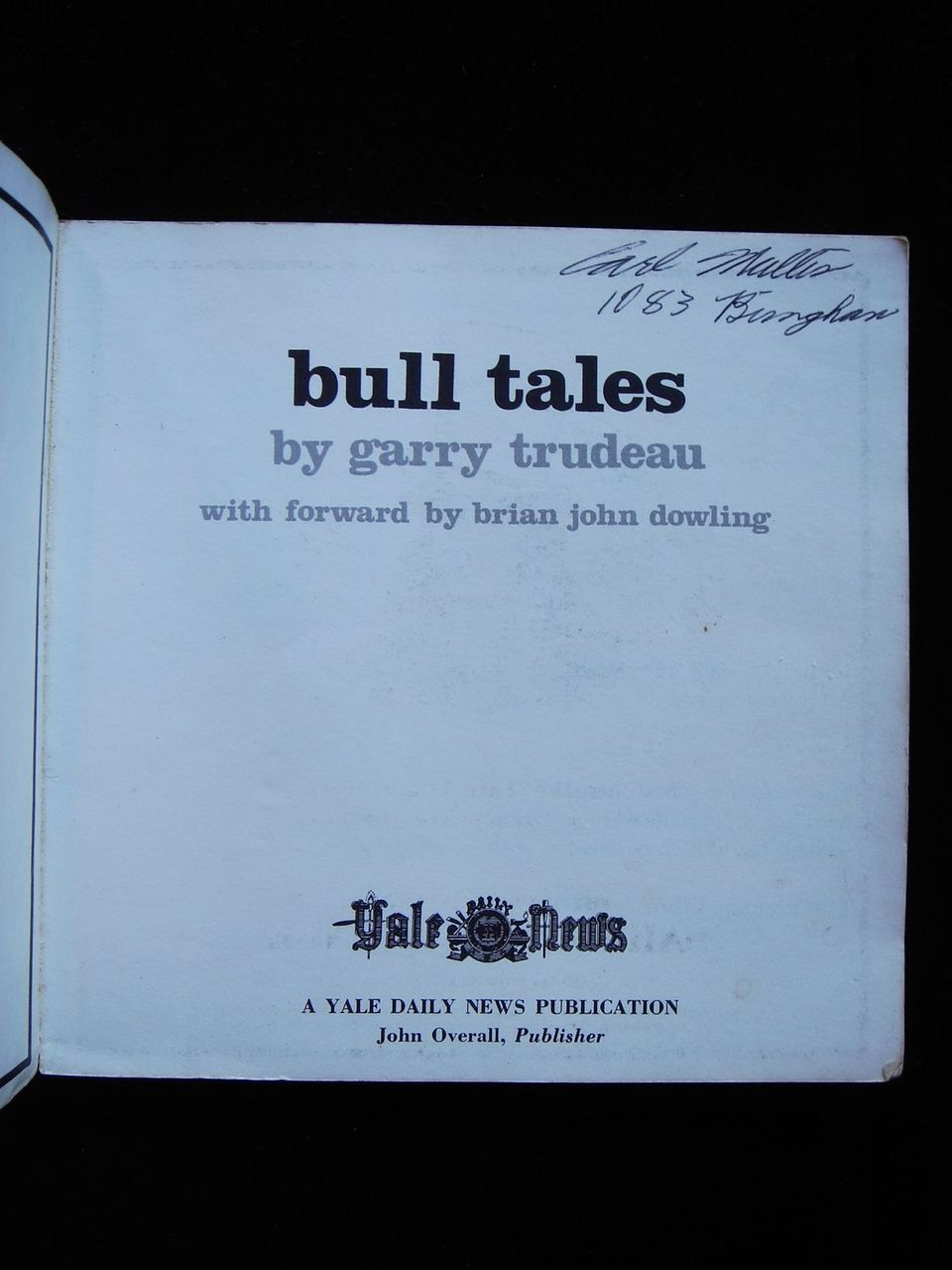 BULL TALES, by Gary Trudeau - 1969 [First Ed]