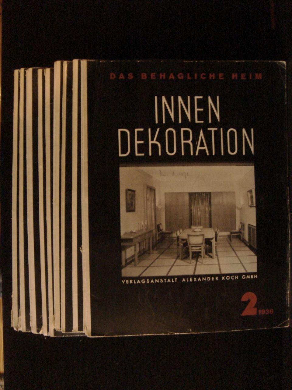 Das Behagliche Heim INNEN DEKORATION 1936 MidCentury Modern Interior Decor VG