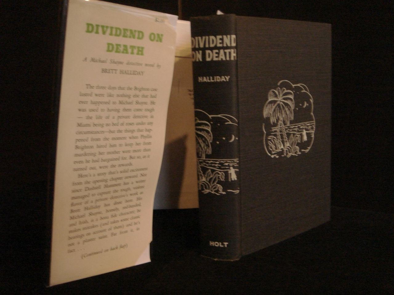 DIVIDEND ON DEATH, by Brett Halliday - 1939 [1st Ed]