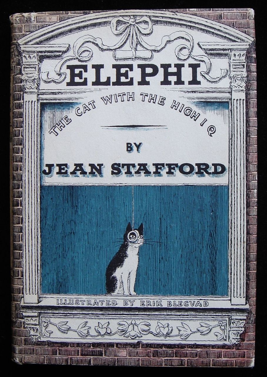 ELEPHI THE CAT WITH THE HIGH IQ, by Jean Stafford & Erik Blegvad 1962 Children's