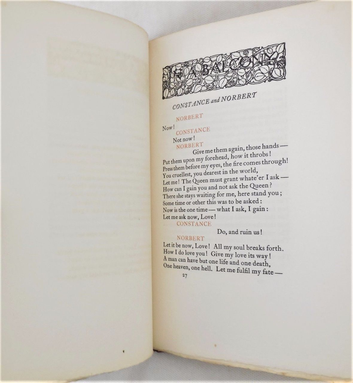 IN A BALCONY by Robert Browning - 1902 [Ltd 395/400]