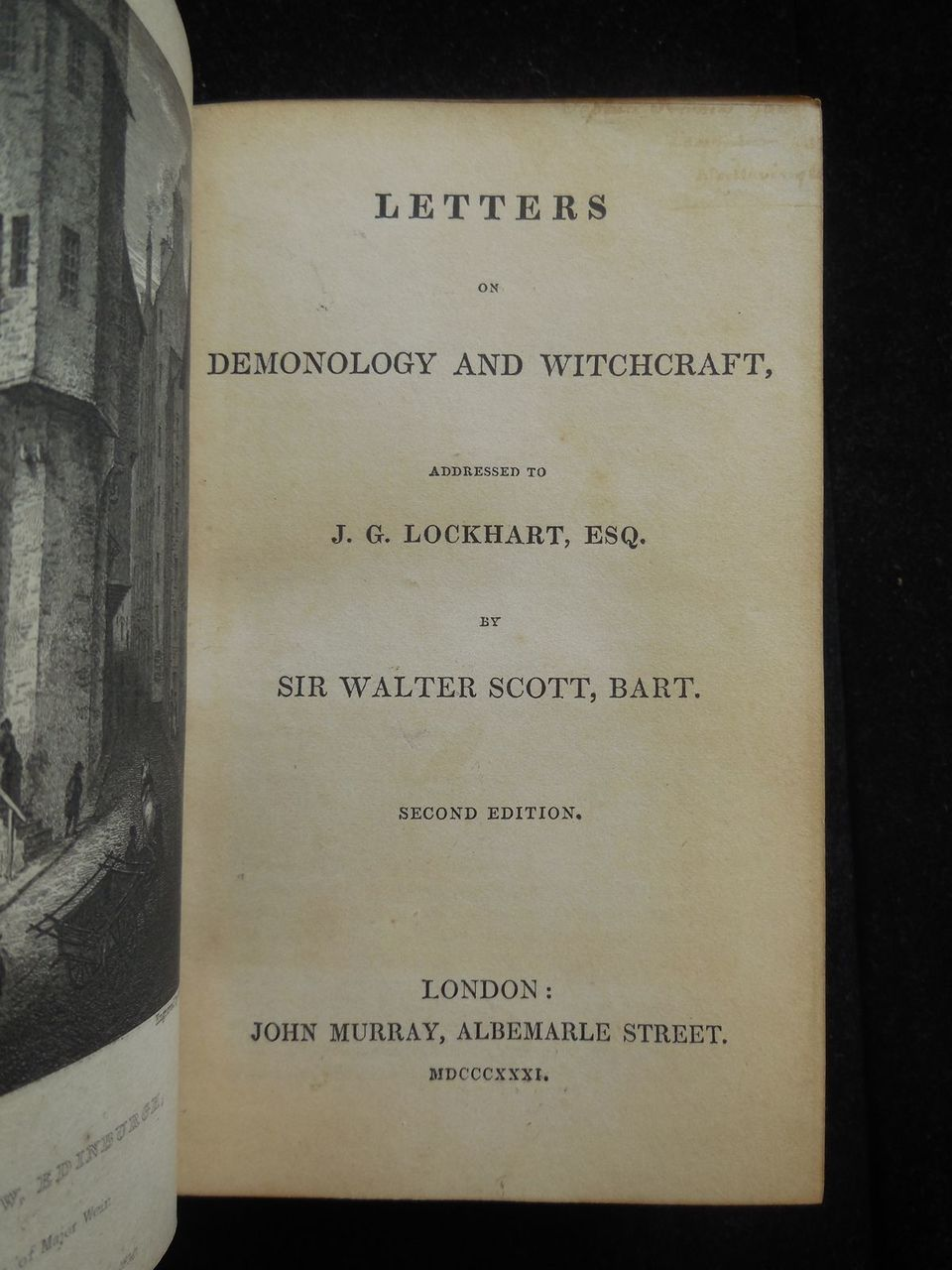 LETTERS ON DEMONOLOGY & WITCHCRAFT, by Walter Scott - 1831