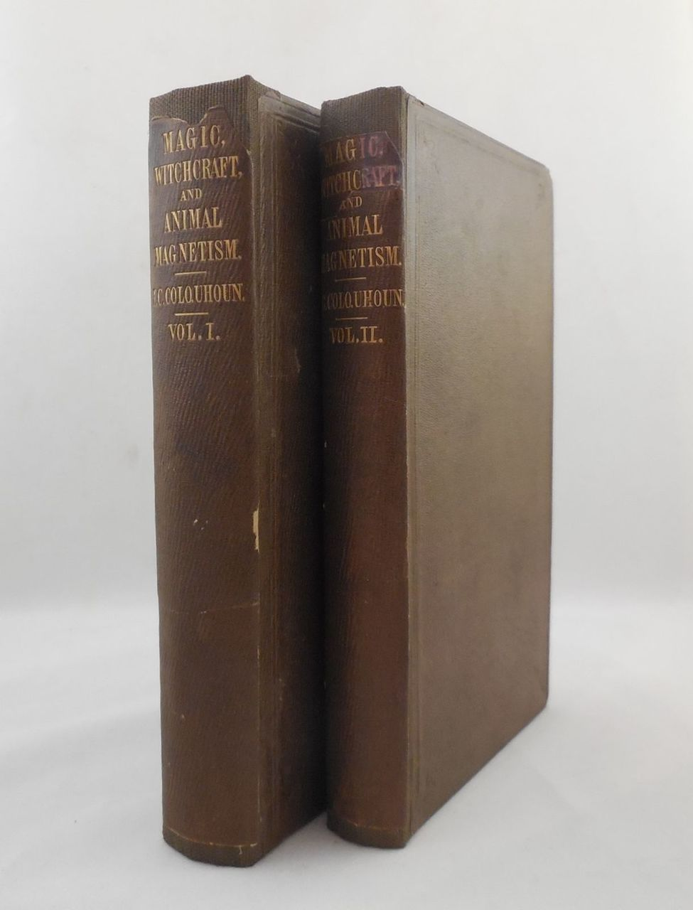 MAGIC, WITCHCRAFT, AND ANIMAL MAGNETISM, by J.C. Colquhoun - 1851 [2 Vol]